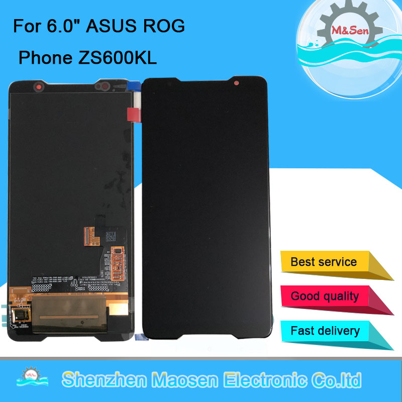 M Sen For 6 0 ASUS ROG Phone ZS600KL AMOLED LCD Display Screen And Touch Panel