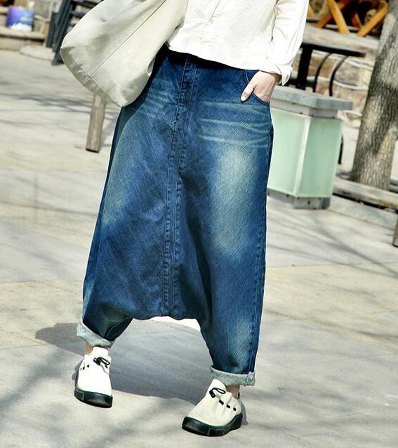 Winter rock fashion harem jeans for women light blue low crotch denim jeans pants ladies casual boyfriend jeans Nora151269 deuter giga blackberry dresscode