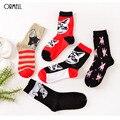 1 par/lote perro encantador cat 3d estilo lindo creativo de las mujeres calcetines de algodón calcetines de mujer otoño invierno para niñas calcetines meias