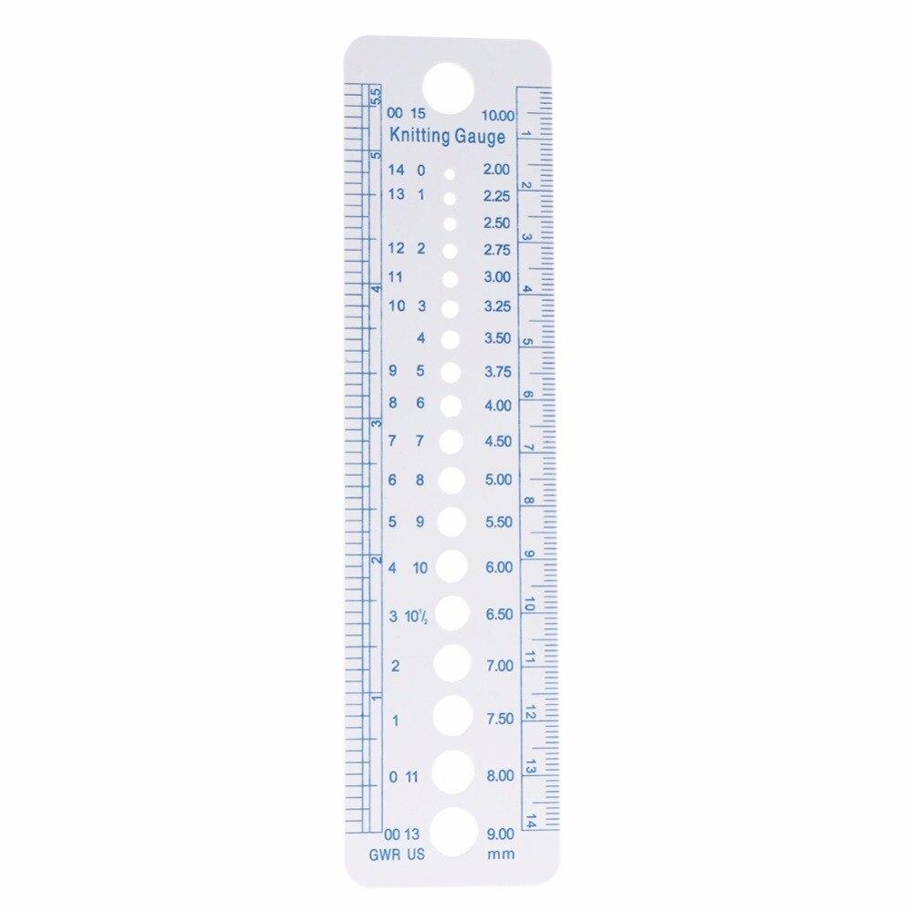 1PC Kintting Calibre Régua Ferramenta De Medição De Plástico Azul Linha Suave Forte E Durável