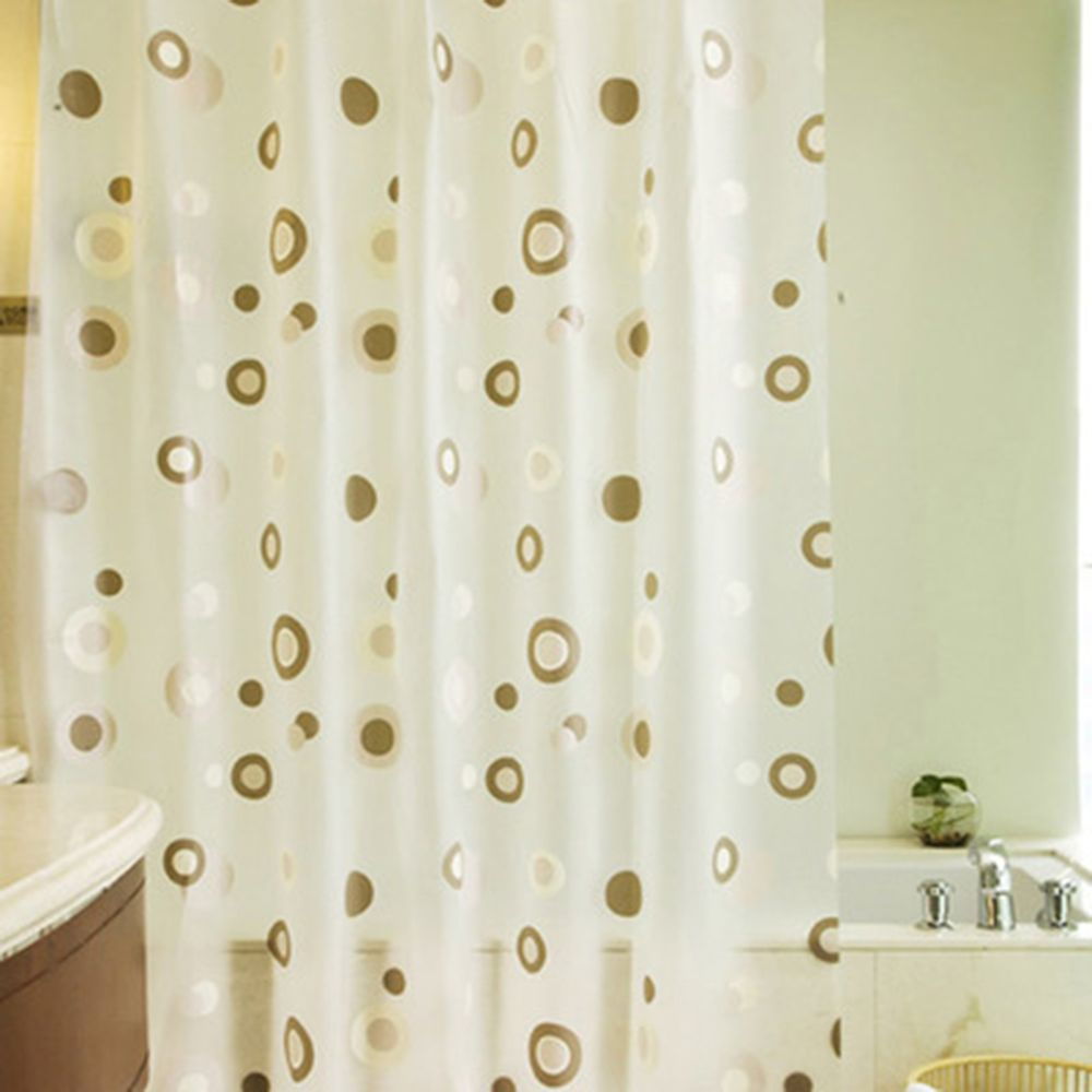 Plastic PEVA Waterproof Shower Curtain Bathroom Curtain Thickening Luxury Bath Curtain With 12pcs Hooks Variety Pattern in Shower Curtains from Home Garden