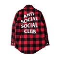 Hip Hop Anti Social Social Club Shirts Men Women Autumn Good Quality Full Length Flannel Justin Bieber Assc Shirts Dress Hombre