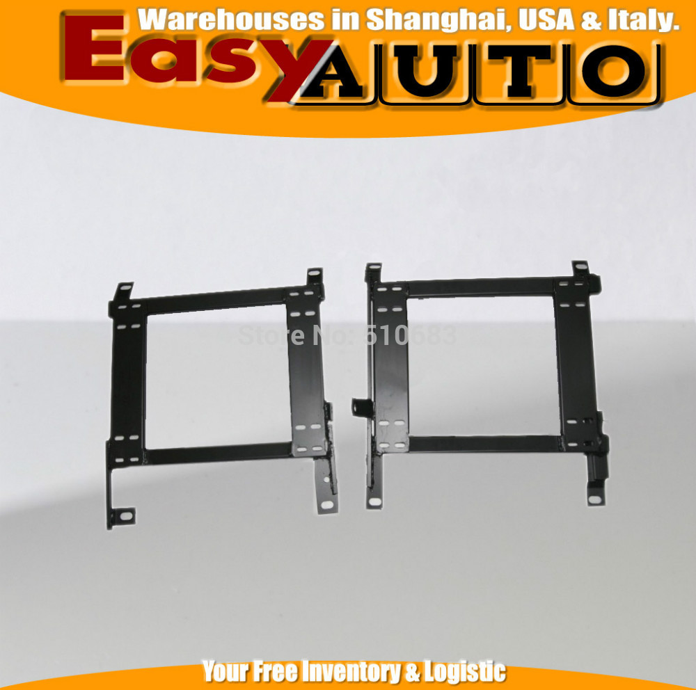ONE PAIR Auto Replace Parts Iron Stainless Strength Car Racing Seat Bracket Base Mounting For NISS@N 350Z
