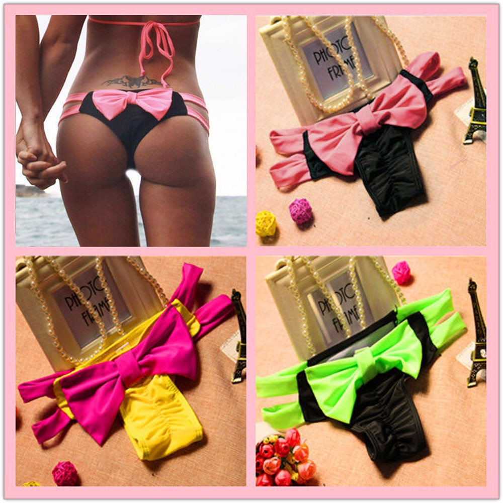 2018 Sexy Physiological Briefs Menstrual Period Lengthen Women Swimsuit Bow Bikini Bottom Swimwear Swim Suit Swim Trunks