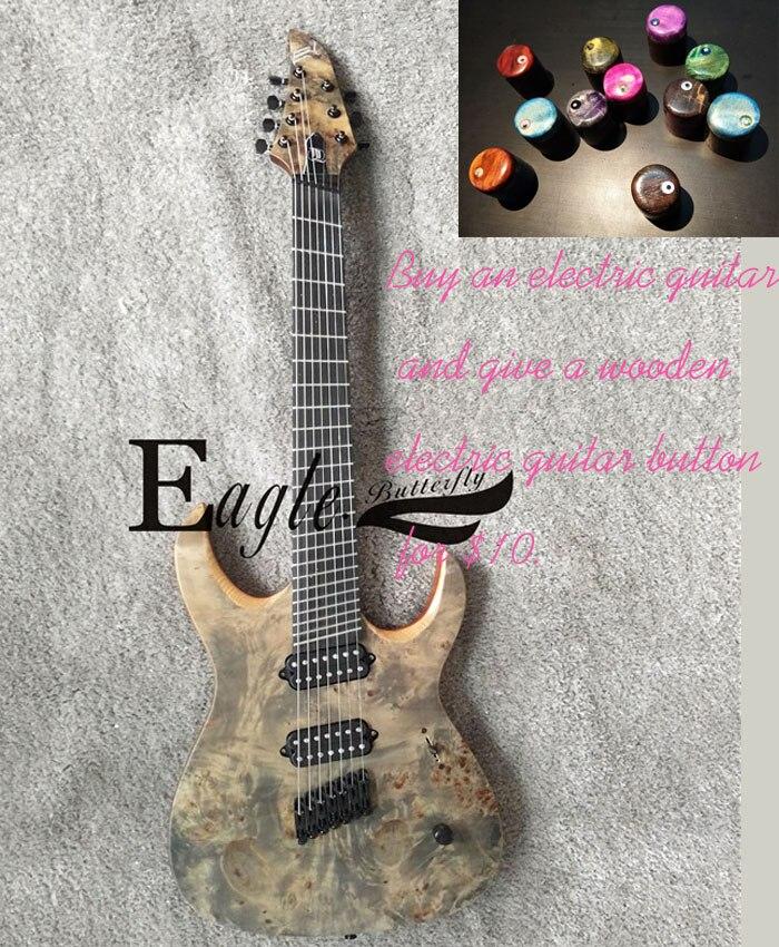 Águia. Borboleta, guitarra elétrica, baixo elétrico, instrumento personalizado loja, 24 sete cordas da guitarra elétrica do metal do produto, customi