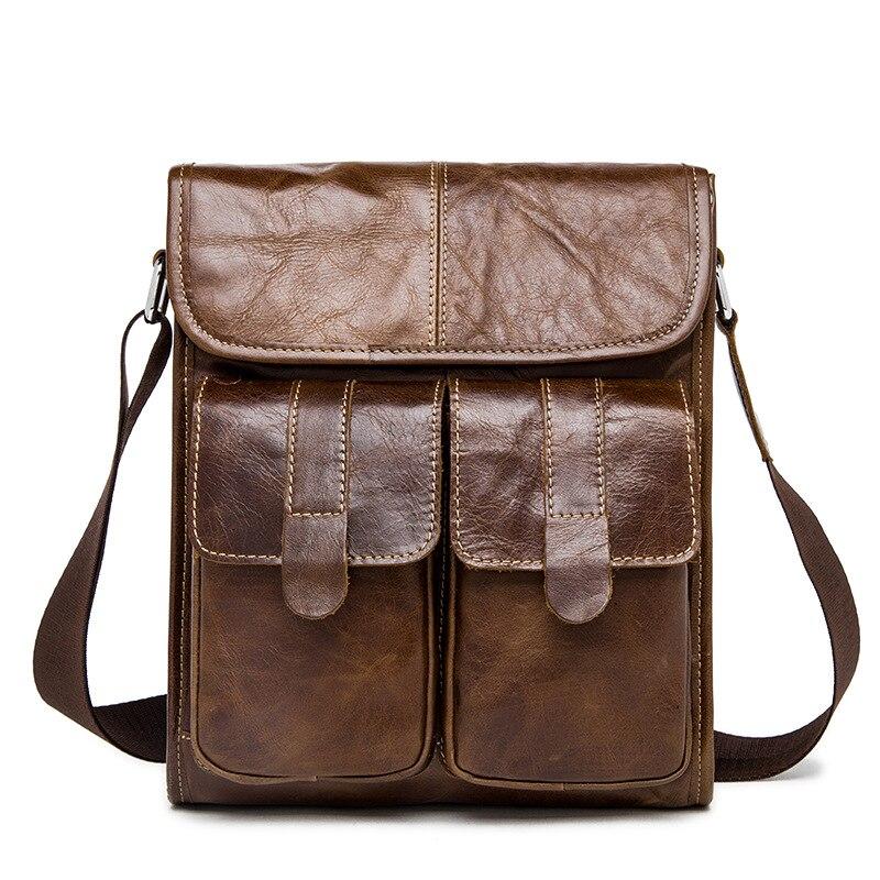 famous brand bag men messengerbags men' s men's one-shoulder bag, shoulder bag, casual, baotou, man bag luggage tag 6