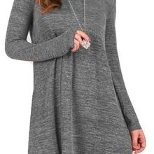 2019 autumn and winter womens sweater dress casual loose knit long-sleeved