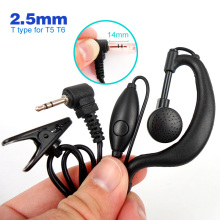 2.5mm PTT Earphone for MOTOROLA Walkie Talkie Headset with Microphone for Handheld Two Way Radio T5 T6 T7 Accessories
