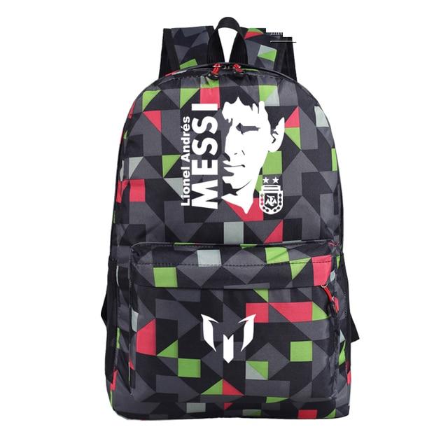 6117a41782 New Lionel Messi fan football student backpack youth schoolbag soccer messi  backpack laptop shoulder bag Christmas gift