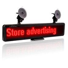 12 В автомобильная светодиодная вывеска прокрутка реклама сообщения на русском языке многофункциональная программируемая перезаряжаемая Встроенная батарея