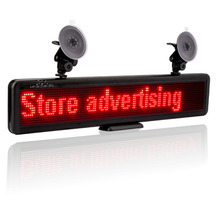 12v Car Led Sign Scrolling advertising Message Russian Display Board Multi purpose Programmable Rechargable Built in Battery