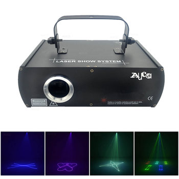 AUCD Beam Animation Scanner 500mW RGB Full Color Projector Laser Lights Professional Disco DMX DJ Party Show Stage Lighting DJ5F