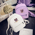 Fashion New backpack High quality PU leather Women bag Sweet girl mini shoulder bag Cute rabbit ear Sequins rivet small backpack