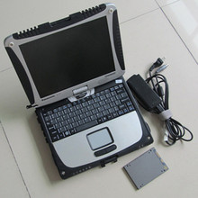 Auto Diagnostic Laptop Toughbook CF-19 TABLET PC with sd connect c4 mb software SSD windows7 version(China (Mainland))