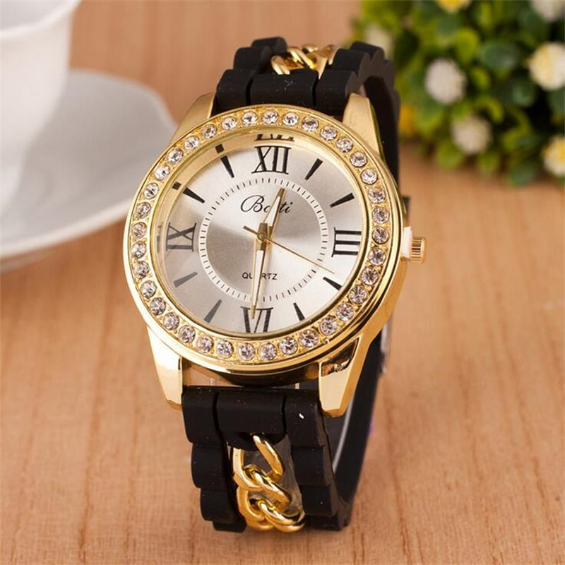 MINHIN Women Watch Brand Fashion Casual Quartz Watches Ladies Dress Sport Rhinestone Dial Relojes Mujer Chain Wristwatches