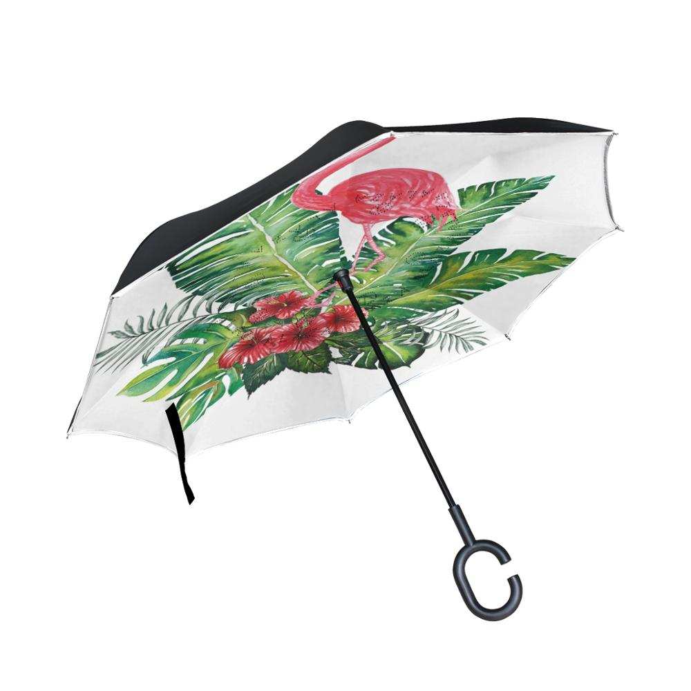 Susino parapluie inversé pour femmes hommes voiture parapluie inversé parapluie à l'envers Protection solaire Umrbrellas oiseau étanche