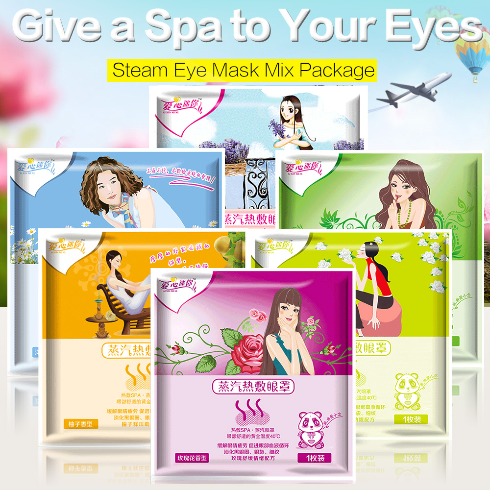 Steam Mask Mix Package 6 Bags/lot Eye Steam Warm Mask Eyes Fatigue Relief Anti-puffiness   Self Warming Pad Vapour Mask c s 1 6 steam киев