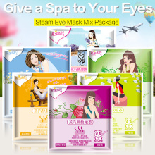 Steam Mask Mix Package 6 Bags/lot Eye Steam Warm Mask Eyes Fatigue Relief Anti-puffiness   Self Warming Pad Vapour Mask