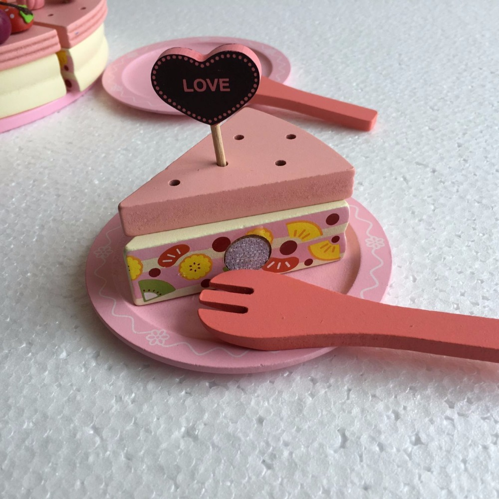 Baby Toy Decoration Cake Set Wooden Play Food Children Pretend Dbolo Electronic Building Block 2008 Assembly For Kid Circuit Kitchen Toys Girl Birthday Christmas Gift In From Hobbies On
