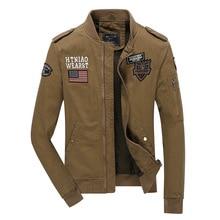 new mens military jacket fashion casual men bomber jackets autumn winter baseball army tactical jacket plus size M-4XL