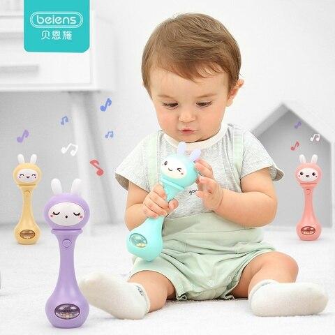 beiens chocalhos desenvolvimento precoce do bebe brinquedos 0 12 meses bebe musical mao agitando rattle