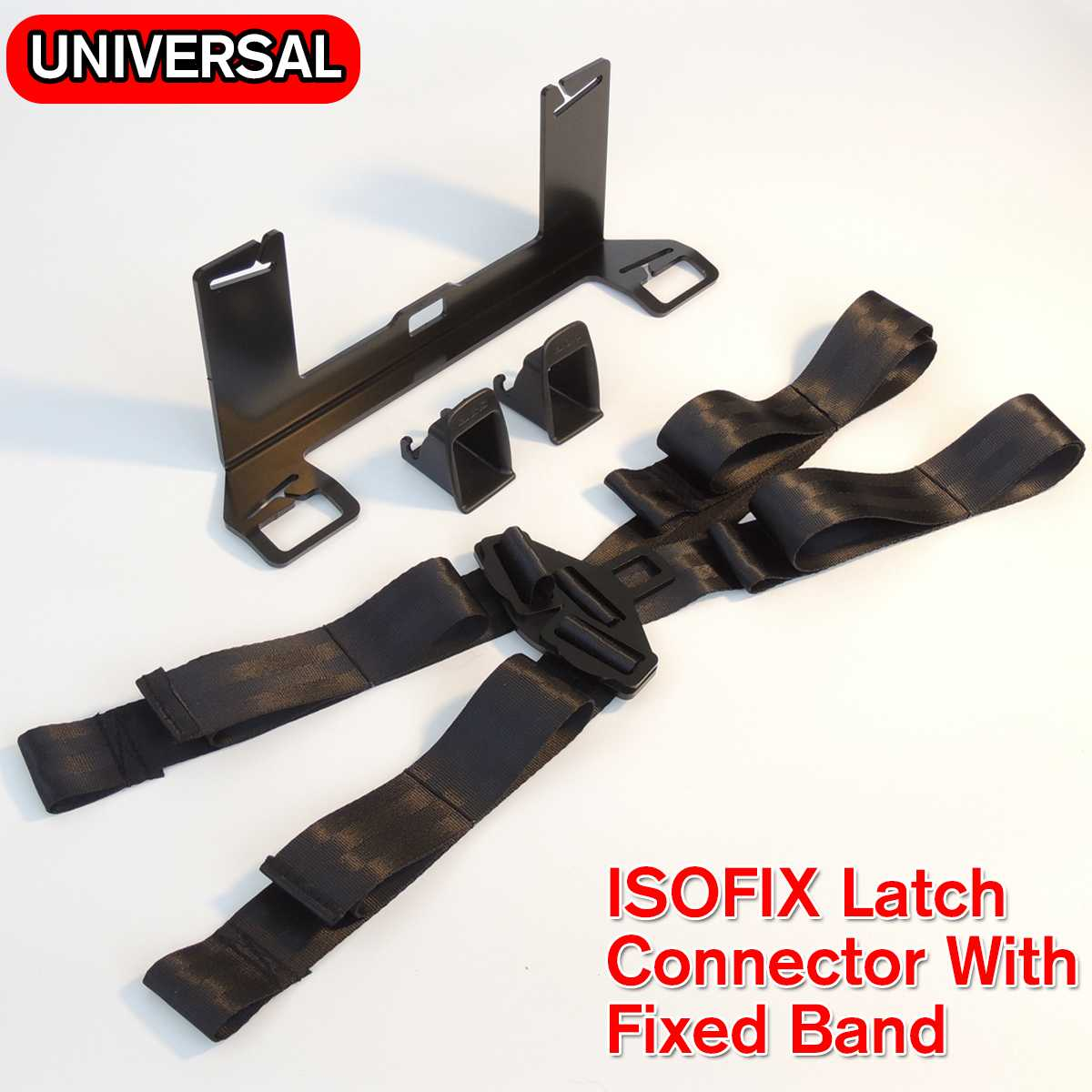 ISOFIX Latc H Seatbelt Interface Bracket With Fixed Band  For Child Safety Seat Thicken Steel Car Seat Bracket Connector