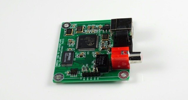 Convertidor USB a Coaxial/fibra óptica SPDIF I2S, tablero DAC, 24 bits, 192khz, CM6631A