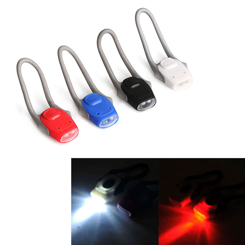 1PC Silicone Bike Bicycle Cycling Head Front Rear Tail LED Flash Light Lamp New