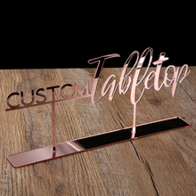 Tabletop Sign Personalized Wedding Table decoration Custom Name Calligraphy Hashtag Free Standing Reception Decor Event Party
