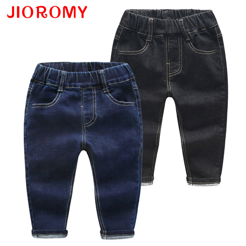 JIOROMY Baby Boys Pants 2017 The Source of Good Children Autumn Slim Jeans Casual High Waist Pants Kids Childrens Clothing k1 inman women s 2017 new cotton jeans burrs in the waist panty 1873334069 wide legged pants nine minutes of pants