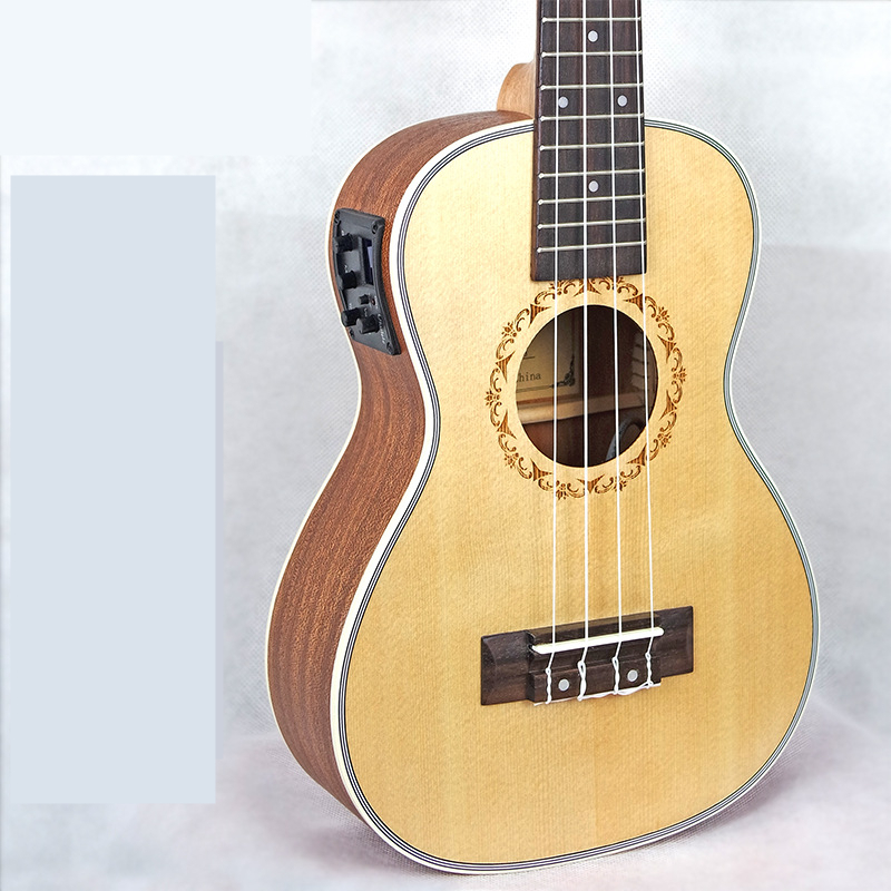 Afanti  Music Electric Guitar / Picea Asperata / 26 inch Ukulele (DGA-166) 12mm waterproof soprano concert ukulele bag case backpack 23 24 26 inch ukelele beige mini guitar accessories gig pu leather