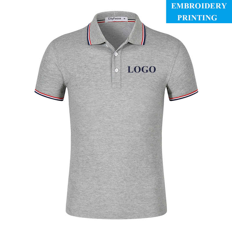 37c081894f7 customized logo Polo Shirt With Custom School Team Company Professionally  Stitched Logo Embroidery - Uniform polo