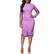 2019 new summer sexy fashion style lace women polyester plus size knee-length dress S-2XL цена