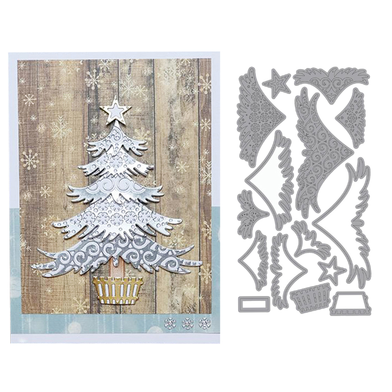 GREEN WITH BELL//STAR//HEART DIE CUTS NEW CHRISTMAS TINSEL 2m-6 Ply