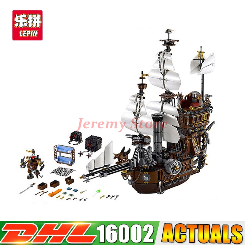 2018 DHL LEPIN 2791PCS 16002 Pirate Ship Metal Beard's Sea Cow Model Building Blocks Educational Brick Toys Compatible 70810 dhl free shipping lepin 16002 pirate