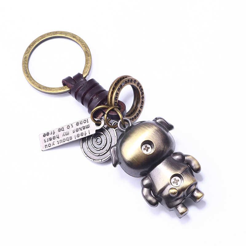 Ubeauty bronze dos desenhos animados porco chaveiro amantes presente saco pingente feminino chaveiro chaveiro chaveiro chaveiro do carro chaveiro inovador