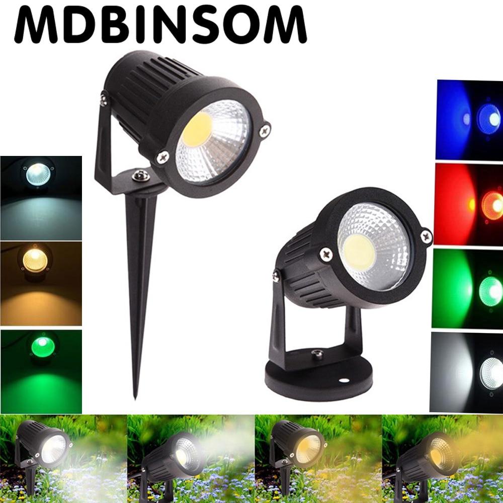 2017 NEW COB 5W LED Lawn Light Outdoor Waterproof Landscape Lawn Lamp 110-240V Spot Lamp Spike Landscape Flood Garden Lighting