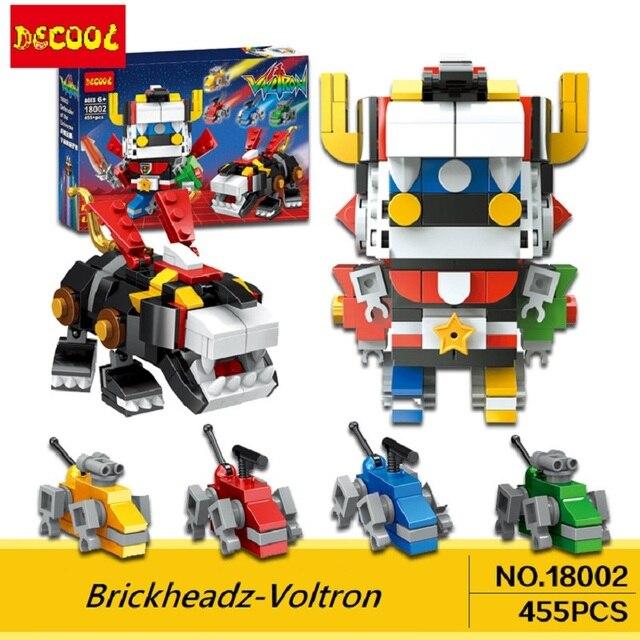 DECOOL 455+pcs 18002 Ideas Voltron Brickheadz Building Blocks toys for Legoed set brick Collection 21311 16057