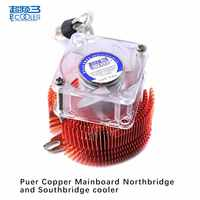Pccooler mainboard Northbridge und South bridge kühler Kupfer Mit 4 cm fan Motherboard kühler fan Fixed pitch 5,2-6,2