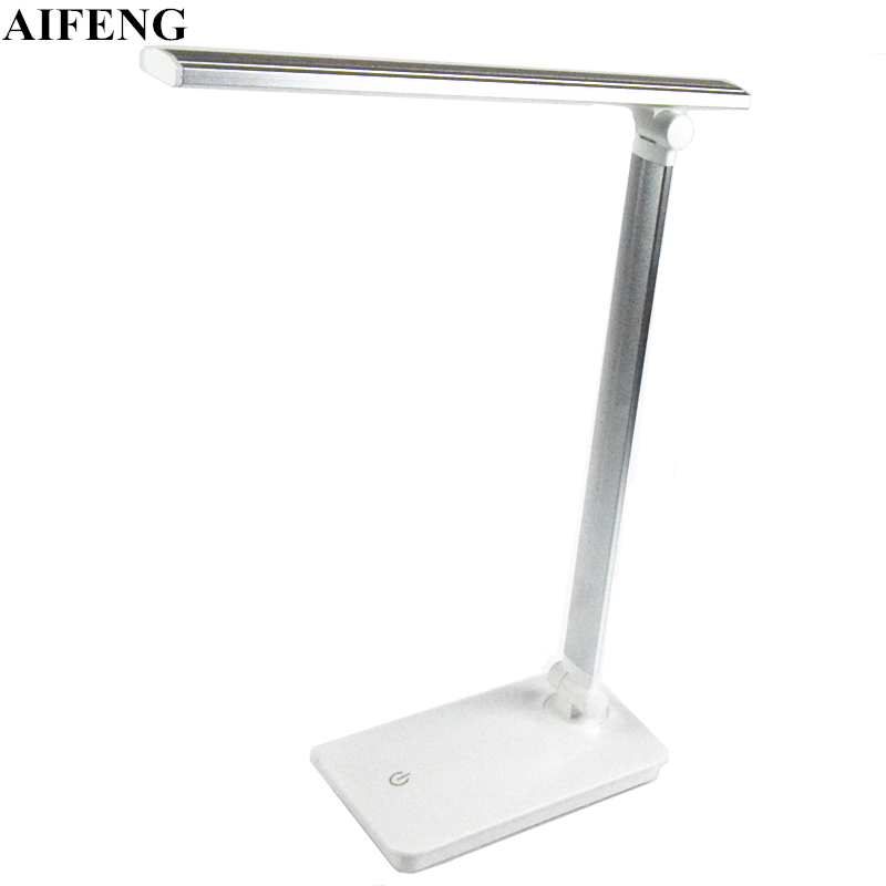 AIFENG Dimmable Led Desk Lamps 5W 370LM USB Powered Book Reading Light Foldable Table Lamps Touch Light Home Decoration Lighting aifeng led desk lamp foldable dimmable 5w 370lm desk table light usb charging touch night light eye care book reading desk lamps