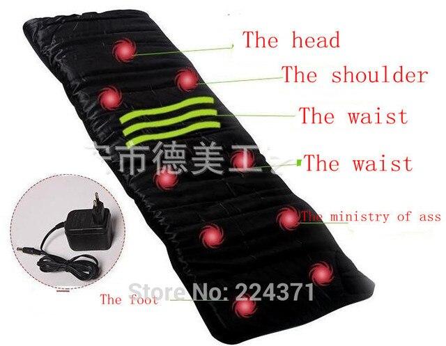 Household massager massage mattress heating vibration massage cushion pillow health massage apparatus