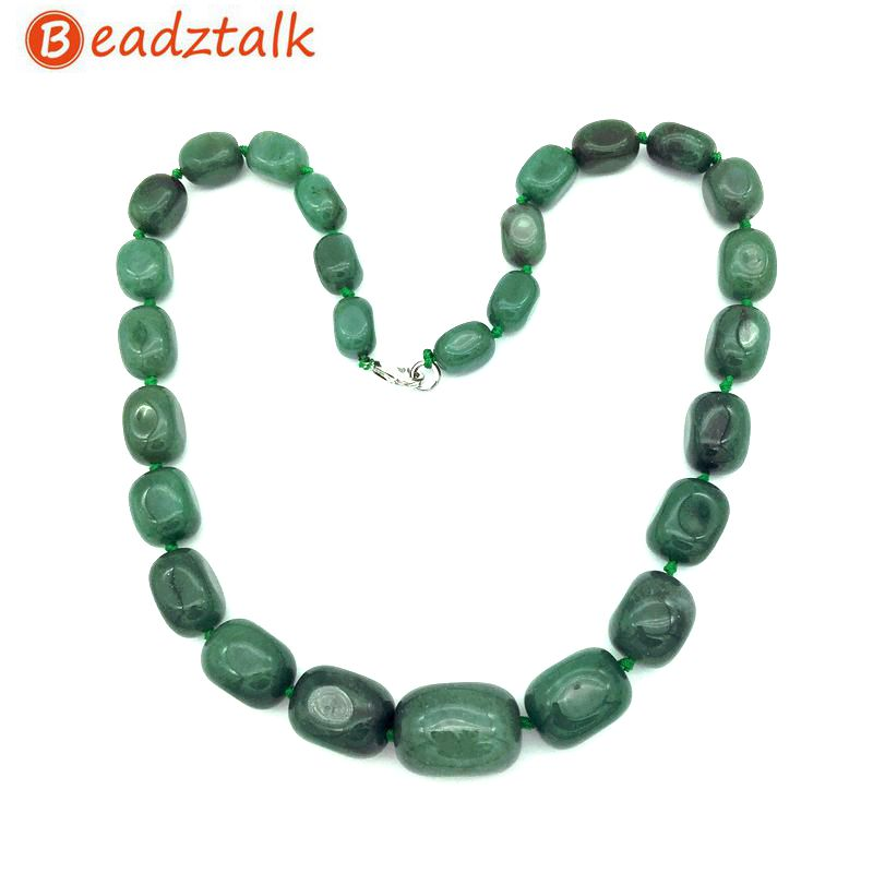 Natural Stone Beads Graduated Choker Necklace Party Jewelry Bead Size 9x12 mm to 16x24mm Amazonite Jaspers Howlite Unakite Etc