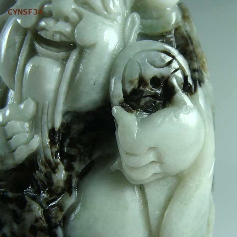 CYNSFJA 本物レア認定中国 Dushan ヒスイのお守り神の富ハンドピース手彫り高品質のアートワークワンダフルギフト