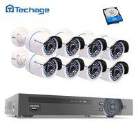 Techage Full HD Kit de Sistema de CCTV 8CH NVR 1080 P POE (8) 2.0MP P2P IP Cámara Impermeable DEL IR Al Aire Libre Video Vigilancia de Seguridad Conjunto