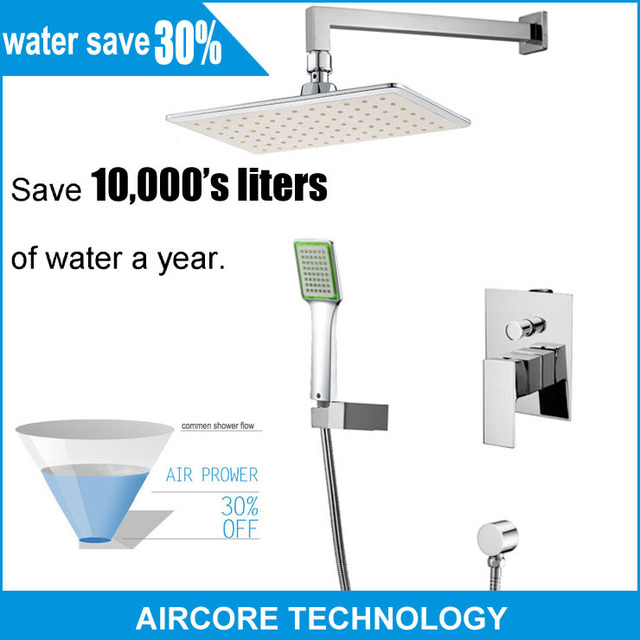 AIRCORE TECHNOLOGY Water Save 30% Bathroom Shower Faucet Shower Set ...