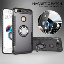 Caso para Xiomi Xiaomi mi a1 caso 5X Fundas duro armadura de anillo magnético para Xiomi Xiaomi mi A2 Lite 8 Lite Max 3 6x cubierta