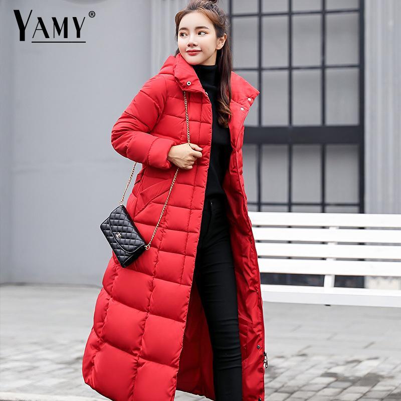 2018 Winter Frauen Mit Kapuze Mantel Pelz Kragen Verdicken Warme Lange Jacke Weibliche Plus Größe Oberbekleidung Parka Damen Chaqueta Feminino Hohe Sicherheit