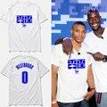 Новый конструктор мужчины майка Рассел Уэстбрук баскетбол джерси футболка лэй тин китайские буквы футболки мужчин, tx2356