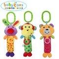 Baby Cartoon Animal Rattles Hanging Soft Plush Educational Hand Bell Toys Cute Monkey Rabbit Bear Infant Grip Knead Toy