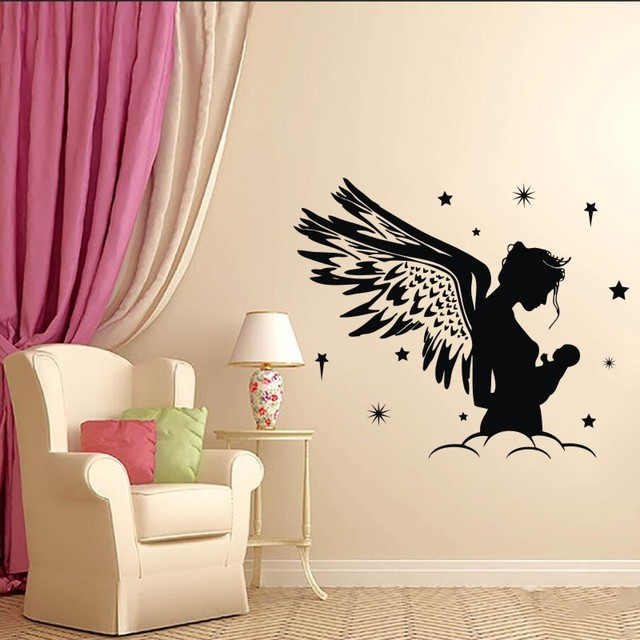 Wall Decal Vinyl Sticker Fairy Angel Nursery Baby Kids Boy Children Room Decoration Art